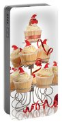 Christmas Cupcakes On Stand Portable Battery Charger