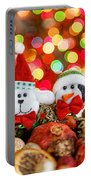 Christmas Dog And Penguin Portable Battery Charger