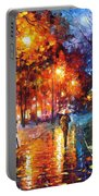 Christmas Emotions - Palette Knife Oil Painting On Canvas By Leonid Afremov Portable Battery Charger