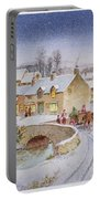 Christmas Eve In The Village  Portable Battery Charger by Stanley Cooke