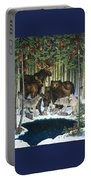 Christmas Gathering Portable Battery Charger