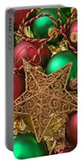 Christmas Gold Star Portable Battery Charger