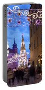 Christmas Illumination On Piwna Street In Warsaw Portable Battery Charger