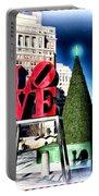 Christmas In Philadelphia Portable Battery Charger