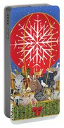 Christmas Journey Oil On Canvas Portable Battery Charger