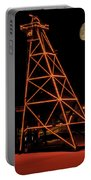 Christmas Moon Over Butte Headframe Portable Battery Charger