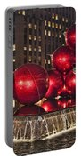 Christmas On 5th Avenue Manhattan 1 Portable Battery Charger