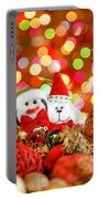 Christmas Penguin And Puppy Portable Battery Charger