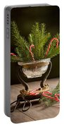 Christmas Pine Portable Battery Charger