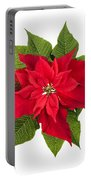 Christmas Poinsettia  Portable Battery Charger