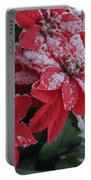 Christmas Poinsettia Flowers Portable Battery Charger