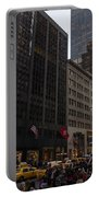Christmas Shopping On The World Famous Fifth Avenue Portable Battery Charger
