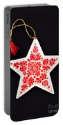 Christmas Star Portable Battery Charger by Anne Gilbert