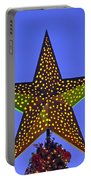 Christmas Star During Dusk Time Portable Battery Charger