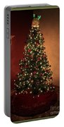 Red And Gold Christmas Tree Without Caption Portable Battery Charger