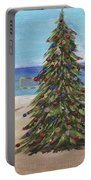 Christmas Tree At The Beach Portable Battery Charger