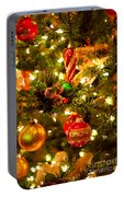 Christmas Tree Background Portable Battery Charger