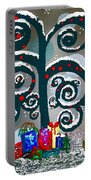 Christmas Tree Swirls And Curls Portable Battery Charger