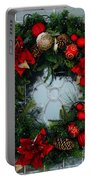 Christmas Wreath Greeting Card Portable Battery Charger