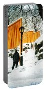Christo - The Gates - Project For Central Park In Snow Portable Battery Charger