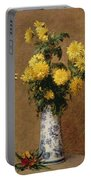 Chrysanthemums, 1879 Portable Battery Charger