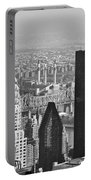 Chrysler Building New York Black And White Portable Battery Charger