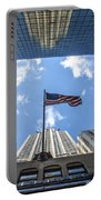 Chrysler Building Reflections Horizontal Portable Battery Charger