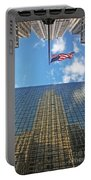 Chrysler Building Reflections Vertical 1 Portable Battery Charger