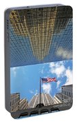Chrysler Building Reflections Vertical 2 Portable Battery Charger