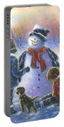 Chubby Snowman  Portable Battery Charger