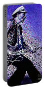 Chuck Berry Rocks Abstract Portable Battery Charger