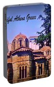 Church In Beautiful Athens Portable Battery Charger