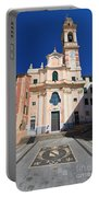 church in Sori. Italy Portable Battery Charger