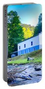 Church In The Mountains By The River Portable Battery Charger