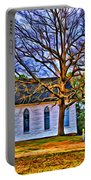 Church In The Wildwood - Paint Portable Battery Charger