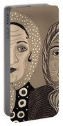 Church Ladies 2 Portable Battery Charger by Sarah Loft