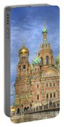 Church Of The Saviour On Spilled Blood. St. Petersburg. Russia Portable Battery Charger by Juli Scalzi