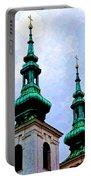 Church Steeples - Bratislava Portable Battery Charger