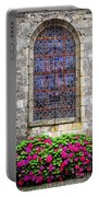 Church Window In Brittany Portable Battery Charger