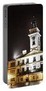 Cieszyn Town Center At Night Portable Battery Charger