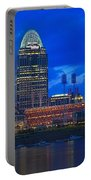 Cincinnati At Sunset Portable Battery Charger