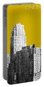 Cincinnati Skyline 2 - Gold Portable Battery Charger