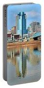 Cincinnati Skyline Reflects Portable Battery Charger