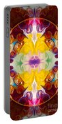 Circling The Unknown Abstract Healing Artwork By Omaste Witkowsk Portable Battery Charger