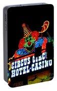Circus Circus Sign Vegas Portable Battery Charger