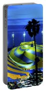 Circus Tent Swirls Of Blue Yellow Original Fine Art Photography Print  Portable Battery Charger