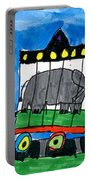 Circus Train Portable Battery Charger by Max Kaderabek Age Eight