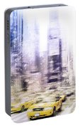 City-art Times Square I Portable Battery Charger
