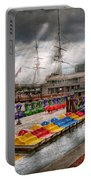 City - Baltimore Md - Modern Maryland Portable Battery Charger by Mike Savad