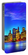 City Blue Portable Battery Charger